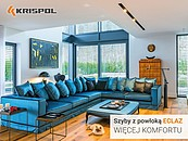 Więcej światła, ciepła i komfortu. Szyby ECLAZ odmieniają okna KRISPOL zdj. 2