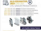 Alu-Edukator on-line 2021 – ruszają szkolenia Aluprof zdj. 1