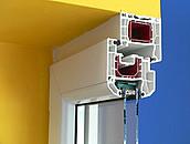 okno PCV przekrój