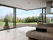 Aluminiowe drzwi przesuwne: panoramiczne przeszklenia zdj. 4