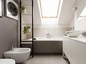 Wnętrza na poddaszu - łazienka zdj. 2