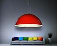 LUMINATO Wielkogabarytowa lampa wisząca, czerwona