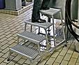 KRAUSE Schodki montażowe ze stopniami z kraty aluminiowej