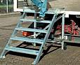 KRAUSE Schodki jezdne z pomostem, ze stopu metali lekkich